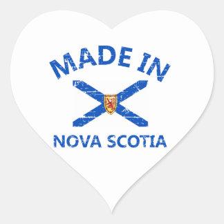 Nova scotia Coat of arms Heart Sticker