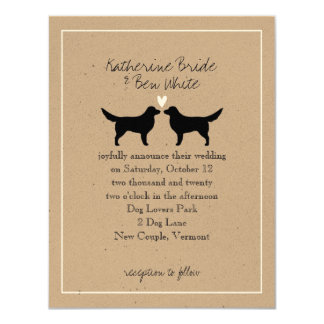 Nova Scotia Duck Tollers Wedding Invitation