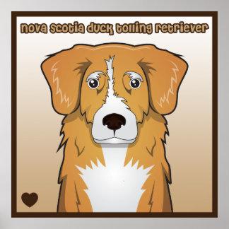 Nova Scotia Duck Tolling Retriever Cartoon Poster