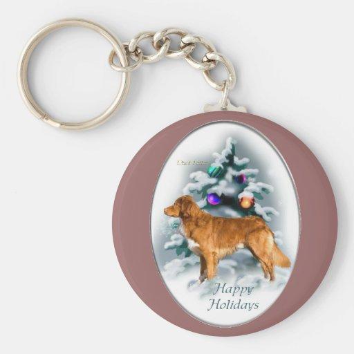 Nova Scotia Duck Tolling Retriever Christmas Gifts Basic Round Button Keychain