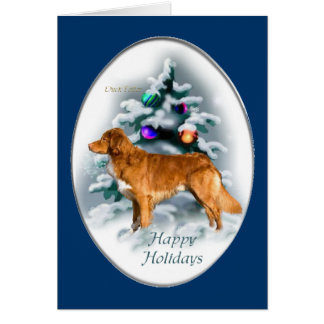 Nova Scotia Duck Tolling Retriever Christmas Gifts Card