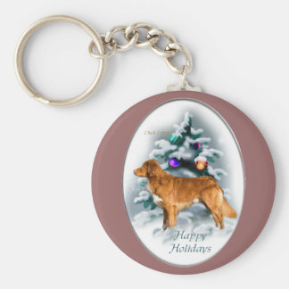 Nova Scotia Duck Tolling Retriever Christmas Gifts Keychain