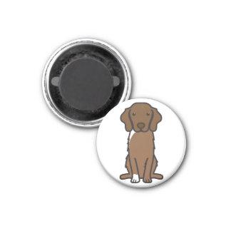 Nova Scotia Duck Tolling Retriever Dog Cartoon 1 Inch Round Magnet