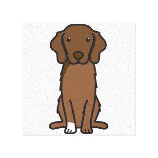 Nova Scotia Duck Tolling Retriever Dog Cartoon Stretched Canvas Prints