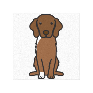 Nova Scotia Duck Tolling Retriever Dog Cartoon Stretched Canvas Print