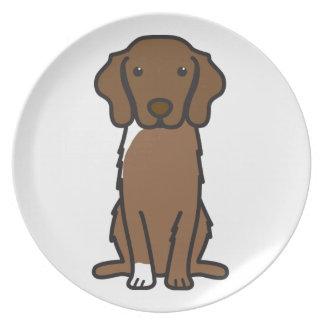 Nova Scotia Duck Tolling Retriever Dog Cartoon Dinner Plate