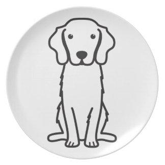 Nova Scotia Duck Tolling Retriever Dog Cartoon Party Plate