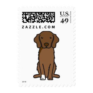 Nova Scotia Duck Tolling Retriever Dog Cartoon Stamp