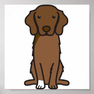 Nova Scotia Duck Tolling Retriever Dog Cartoon Poster