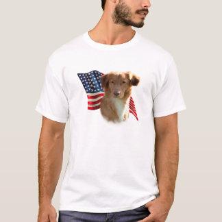 Nova Scotia Duck Tolling Retriever Flag T-Shirt