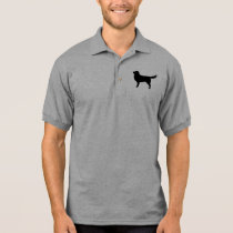 Nova Scotia Duck Tolling Retriever Silhouette Polo Shirt