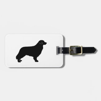 nova scotia duck tolling retriever silo black.png tag for luggage