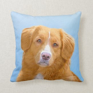 Nova Scotia Duck Tolling Retriever Throw Pillow