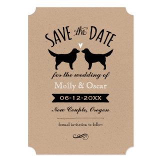 Nova Scotia Duck Tolling Retrievers Wedding Date Card