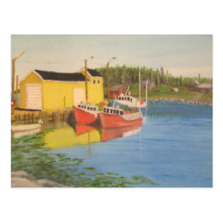 Nova Scotia Fishing Dock Postcard