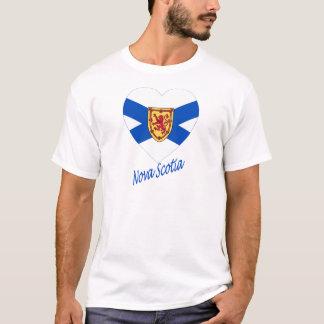 Nova Scotia Flag Heart with Name T-Shirt