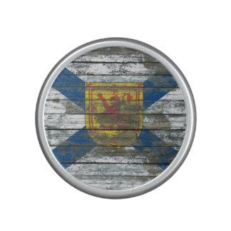 Nova Scotia Flag on Rough Wood Boards Effect Speaker
