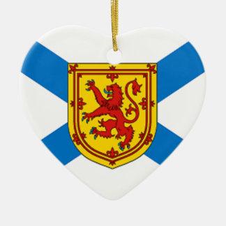 Nova Scotia Flag Ceramic Heart Ornament