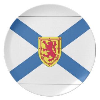 Nova Scotia Flag Dinner Plate