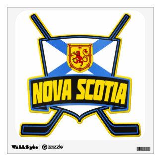 Nova Scotia Hockey Flag Wall Decal