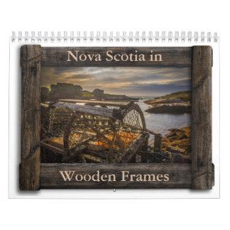 Nova Scotia in Wooden Frames Calendar