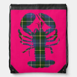 Nova Scotia Lobster Tartan pink tote bag