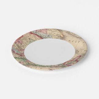 Nova Scotia, New Brunswick, Map by Mitchell Paper Plate