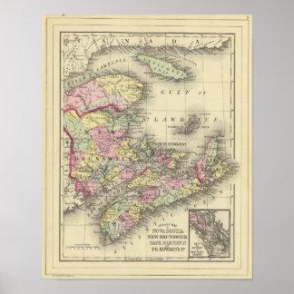 Nova Scotia, New Brunswick, Pr Edward's Id Poster