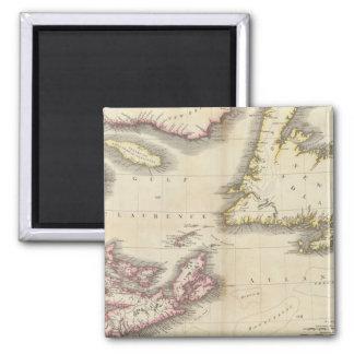 Nova Scotia, Newfoundland 2 Inch Square Magnet