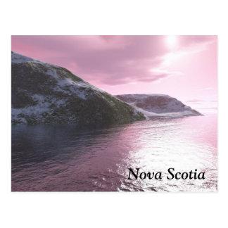 Nova Scotia Pink Sunrise Postcard
