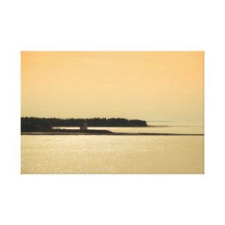 Nova Scotia Shoreline at Sunset Photograph Canvas Print