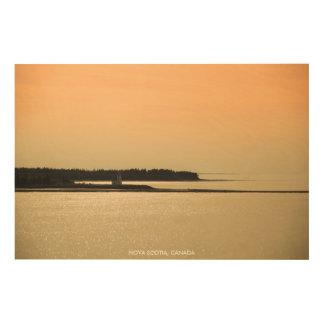Nova Scotia Shoreline at Sunset Photograph Wood Wall Art