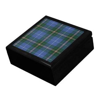 Nova Scotia Tartan Ceramic Tile Inlay Wood Gift Bo Jewelry Box