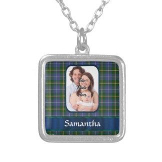 Nova Scotia tartan Square Pendant Necklace