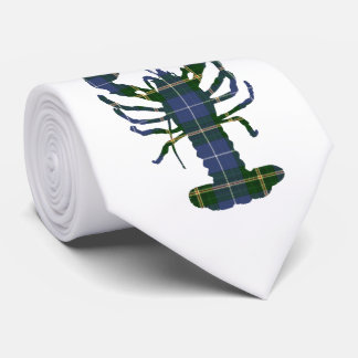 Nova Scotia Tartan tie plaid lobster