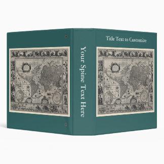 Nova totius terrarum, 1606 Antique World Map Binder