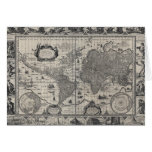 Nova totius terrarum, 1606 Antique World Map Greeting Card