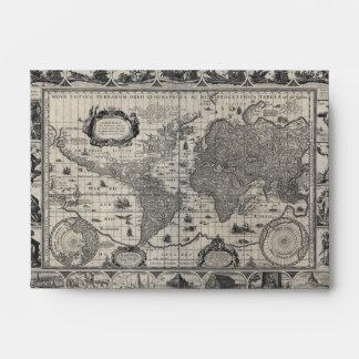 Nova totius terrarum, 1606 Antique World Map Envelope
