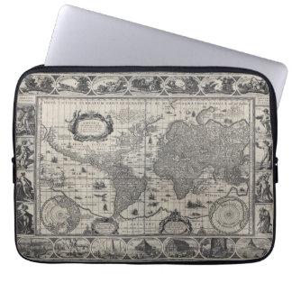 Nova totius terrarum 1606 Antique World Map Laptop Sleeves