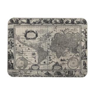 Nova totius terrarum, 1606 Antique World Map Magnet