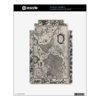 Nova totius terrarum, 1606 Antique World Map Kindle 3 Skin