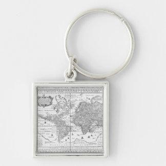 Nova Totius Terrarum Orbis Silver-Colored Square Keychain