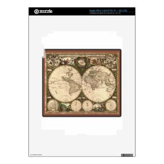 Nova totius terrarum orbis tabula auctore decal for iPad 3