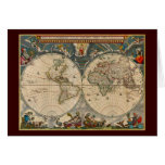 Nova Totius Terrarum Orbis Tabula World Map Greeting Card