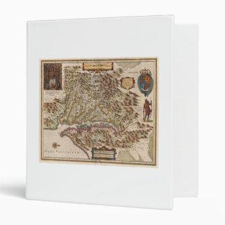 Nova Virginiae Tabula 1630 Henricus Hondius Map 3 Ring Binder