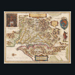 """Nova Virginiae Tabula 1630 Henricus Hondius Map Canvas Print<br><div class=""""desc"""">A very fine example of Henricus Hondius' 1630 map of the Virginia colony and the Chesapeake Bay. Oriented to the west, this map covers from Cape Henry to the Susquehanna River and inland as far as the Appalachian Mountains. The Chesapeake Bay is shown in full as are many of its...</div>"""