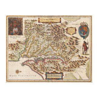 Nova Virginiae Tabula 1630 Henricus Hondius Map Canvas Print