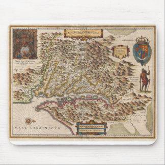 Nova Virginiae Tabula 1630 Henricus Hondius Map Mouse Pad