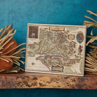 Nova Virginiae Tabula 1630 Henricus Hondius Map Plaque