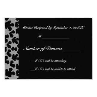Novae Ebony (Grey) RSVP Card